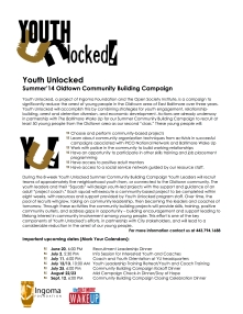 Youth Unlocked Community Building Campaign Y2